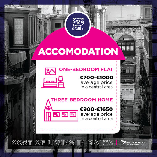 Cost of Living in Malta - Accommodation - Guide to Working in Malta